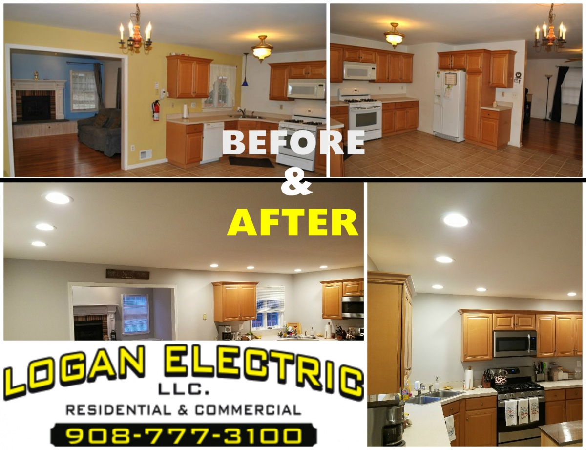 Logan Electric LLC - Before and After | Lopatcong Kitchen Lights